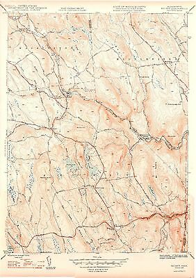 43 Vintage USGS Topo Maps HAMPSHIRE Co MASSACHUSETTS CD