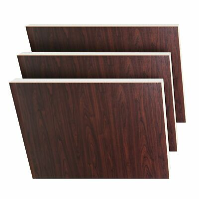 Rosewood / Rosewood on White uPVC Flat Door Panel 20mm/24mm/28mm. 780mmX950mm