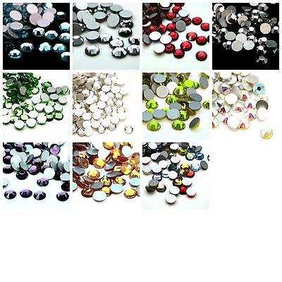 100 Grade A - Quality Crystal Glass Flat Back Rhinestones SS16 4mm Colours ML