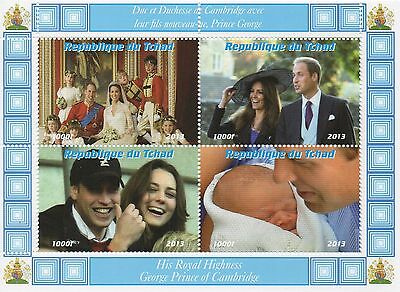 ROYAL BABY PRINCE GEORGE KATE MIDDLETON AND PRINCE WILLIAM MNH STAMP SHEETLET