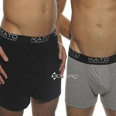 12 Pack Mens Kato Boxer Shorts Trunks Comfort Fit Underwear Stretch S-XL
