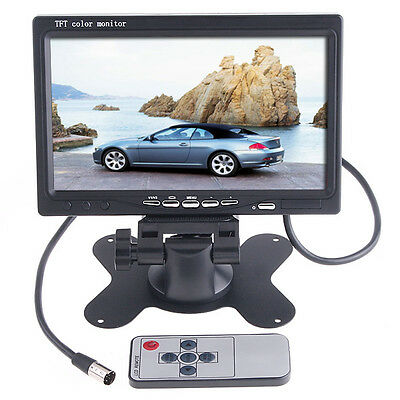 """7"""" TFT LCD Color Auto Car Rearview Headrest Monitor DVD Camera VCR Digital US"""