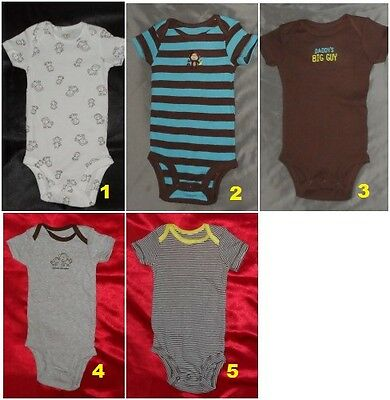 New! Carter's Infant Baby Girls or Boys One Piece Bodysuit 6 Months