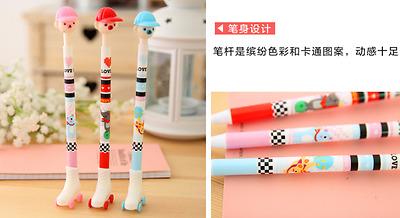 2 x Fun Skateboard Bear pens office stationery gift Party Bag Cute Kids novelty
