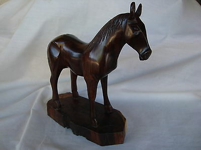 """Ironwood HORSE Hand Carved Sanded & Polished 9"""" Tall Great Gift Brand NEW"""
