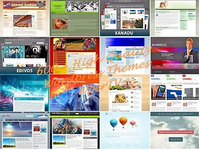 Wordpress Themes - 600 Plus Premium WordPress Templates With Resell Rights - CD