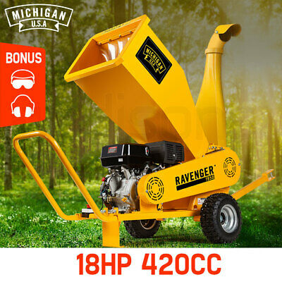Michigan 18HP Wood Chipper Mulcher Commercial Garden Shredder Mulch Tool Chip
