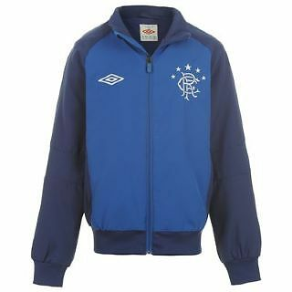 BNWT OFFICIAL UMBRO GLASGOW RANGERS TRAINING WOVEN JACKET - Size Large