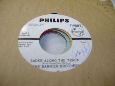 Bluegrass Promo 45 THE BARRIER BROTHERS Smoke Along The Track on Philips (promo)