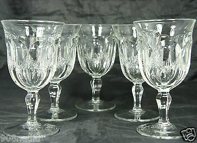 VINTAGE BASIC CLASSIC WINE OR WATER GLASS W/ GARLAND SET OF 5