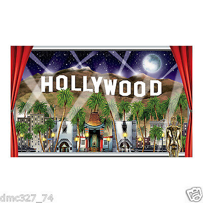 HOLLYWOOD SIGN MOVIE Night VIP Awards Party Decoration Wall Mural Magnificent Hollywood Sign Decoration