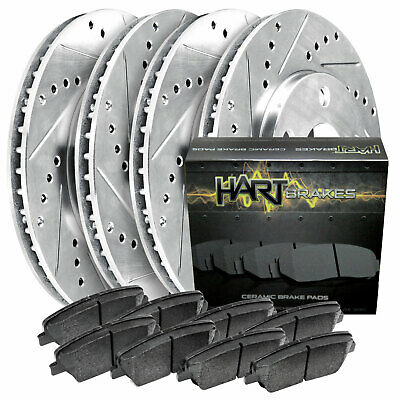 2 FRONT + 2 REAR 2363 4 Platinum Hart *DRILLED /& SLOTTED* Disc Brake Rotors