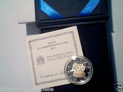 2 euro 2013 Fs BE PP proof MALTA Malte 1921 governo autonomo self government