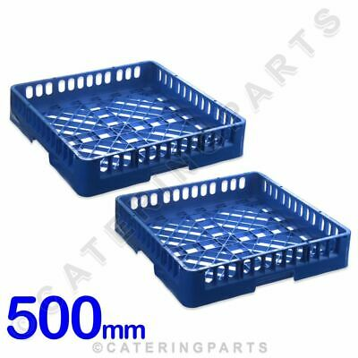 2 X 500mm SQUARE DISH-WASHER GLASS-WASHER OPEN BASKETS GLASS OR CUP RACKS