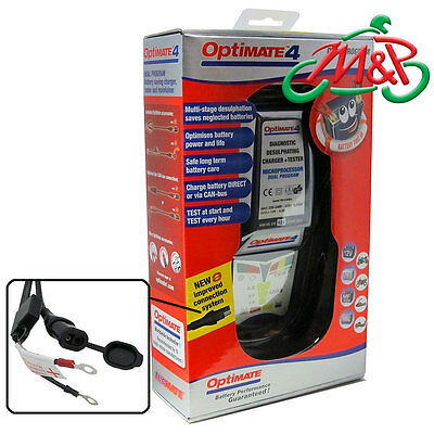 ZX-6R (ZX636C1) Optimate 4 Dual Program 12v Battery Charger