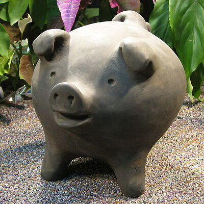 Cast Stone Cement 3 Legged Chanchito Pig Outdoor Garden Statue