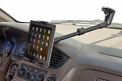 """Extending 14""""-18"""" Windshield Suction Cup Mount Holder for Apple iPad 1 2 3 4 Air"""