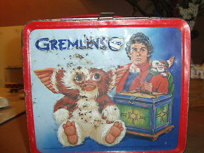 gremlins metal lunch box 1984 no thermos