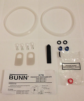 Authentic Parts - Bunn Ultra-2 Maintenance Kit 34245.0000 - Real Bunn parts