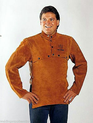 "Tillman 3821 Leather Welding Cape Sleeves W/20"" Bib Size Large"