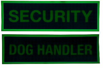Glow in the dark Patches, Dog Handler and Security, Plain / hook & loop backing