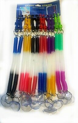 Spring Key Chain Stretchable Spiral String Multicolour Plastic Spring Holder