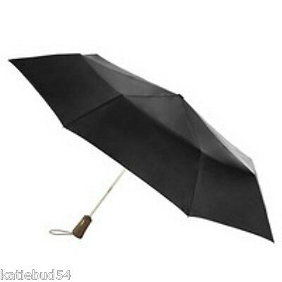 Totes Auto Open Close TITAN Max Strength High Wind Umbrella Folding BLACK-