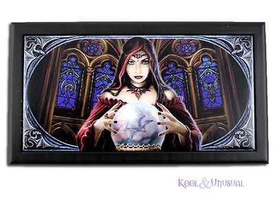 """Anne Stokes Large Trinket Jewellery Box: """"Crystal Ball"""" Gothic Sorceress * Pagan"""