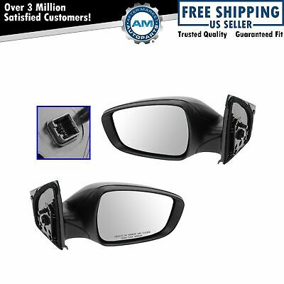 Side View Mirrors Power Textured Black LH /& RH Pair Set for 09-13 Toyota Corolla