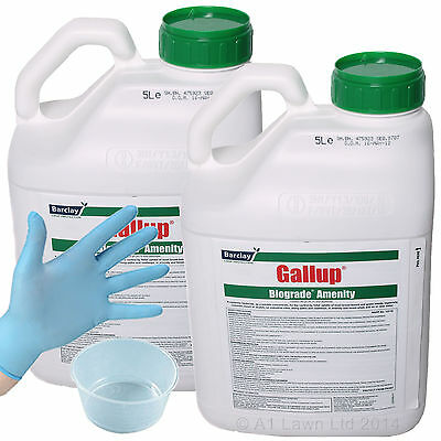 GALLUP BIOGRADE AMENITY 10 Ltrs STRONG GLYPHOSATE WEED KILLER CHILD PET FRIENDLY