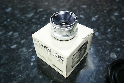 Minolta E Rokkor 50mm F4.5  Enlarger lens Boxed with Keeper, mint