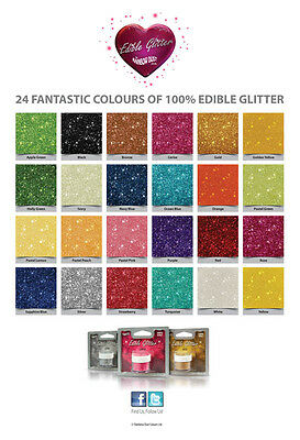Rainbow Dust Edible Glitter - 100% Edible For Cake Decorating & Sugarcraft