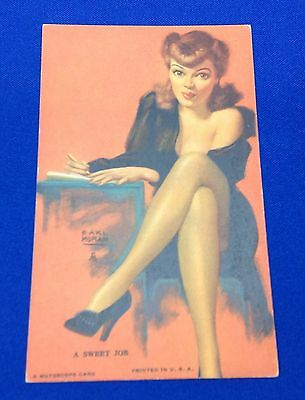 Mutoscope Vintage 1940's Pin Up Card Artist Earl Moran A Sweet Job