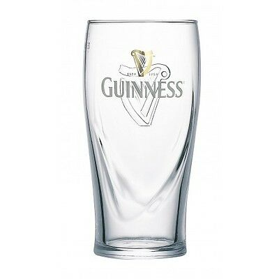 TWO NEW STLYLE 16oz GUINNESS BEER GLASSES