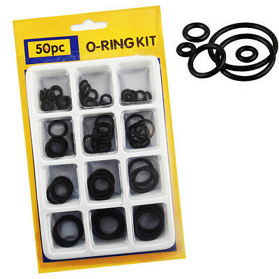 50pc O Ring Plumbing Air Seal Rubber Tap Sink Seal Thread Assorted Size Pack DIY