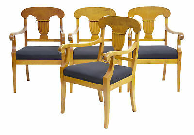 Set Of 4 19Th Century Birch Armchairs
