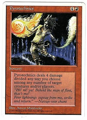 Pyrotechnics 1x ENGLISH 4th Edition Magic cards NM