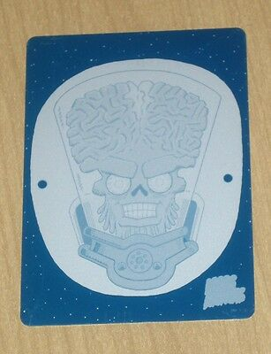 2013 Topps MARS ATTACKS INVASION cyan print plate ALONE IN SPACE #71 1/1