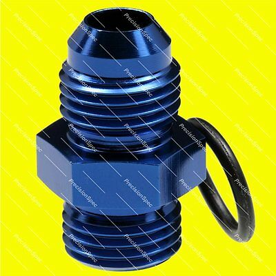AN6 Male Flare to 6AN ORB O-ring Boss Straight Fitting Adapter Blue 1Yr Warranty
