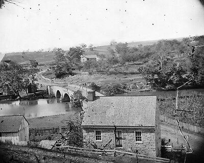 New 8x10 Civil War Photo: East View of Town, Sharpsburg Maryland - Antietam