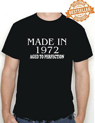 50th BIRTHDAY T-shirt Made in 1969 Aged To Perfection Choose size/color HOLIDAY