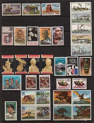 1989 Us  Commemorative Year Set 34 Stamps Mint Nh