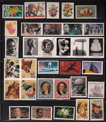 2004 Us Commemorative Year Set 44 Stamps Mint Nh