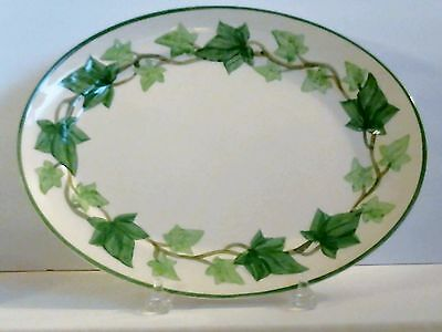 """Franciscan Ivy Oval Platter Tray 13"""" 1949-1953 USA Excellent"""