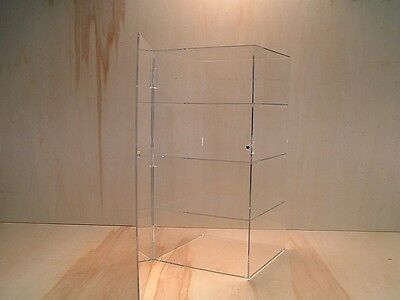 Stackable Acrylic Jewelry Display Case with removable shelves