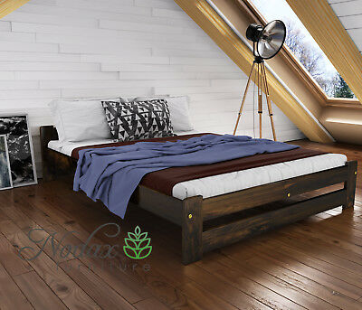 """*NODAX*Wooden Furniture Pine 3ft, 4ft, 4ft6in, 5ft UK Size -Walnut Colour - """"F3"""""""