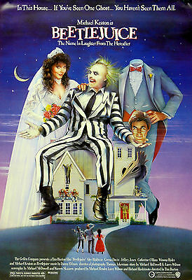 """BEETLEJUICE""...Michael Keaton...Classic 1988 Fantasy Movie Poster A1A2A3A4Sizes"