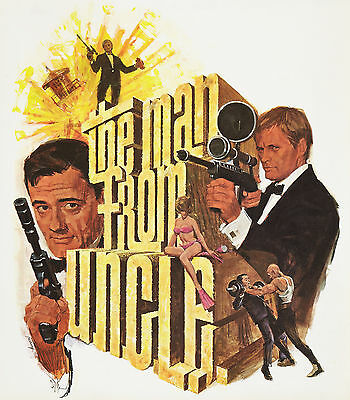 """""""THE MAN FROM UNCLE""""...Classic 1966 TV Movie Promotional Poster A1A2A3A4Sizes"""