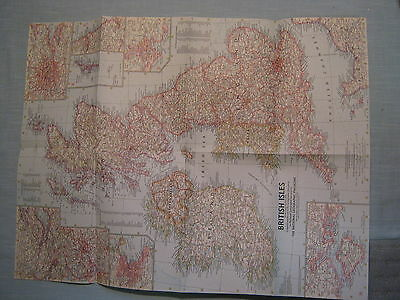 VINTAGE BRITISH ISLES MAP National Geographic July 1958 MINT