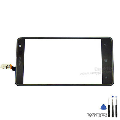 Nokia Lumia 625 Digitizer Touch Screen Glass Lens Replacement Black